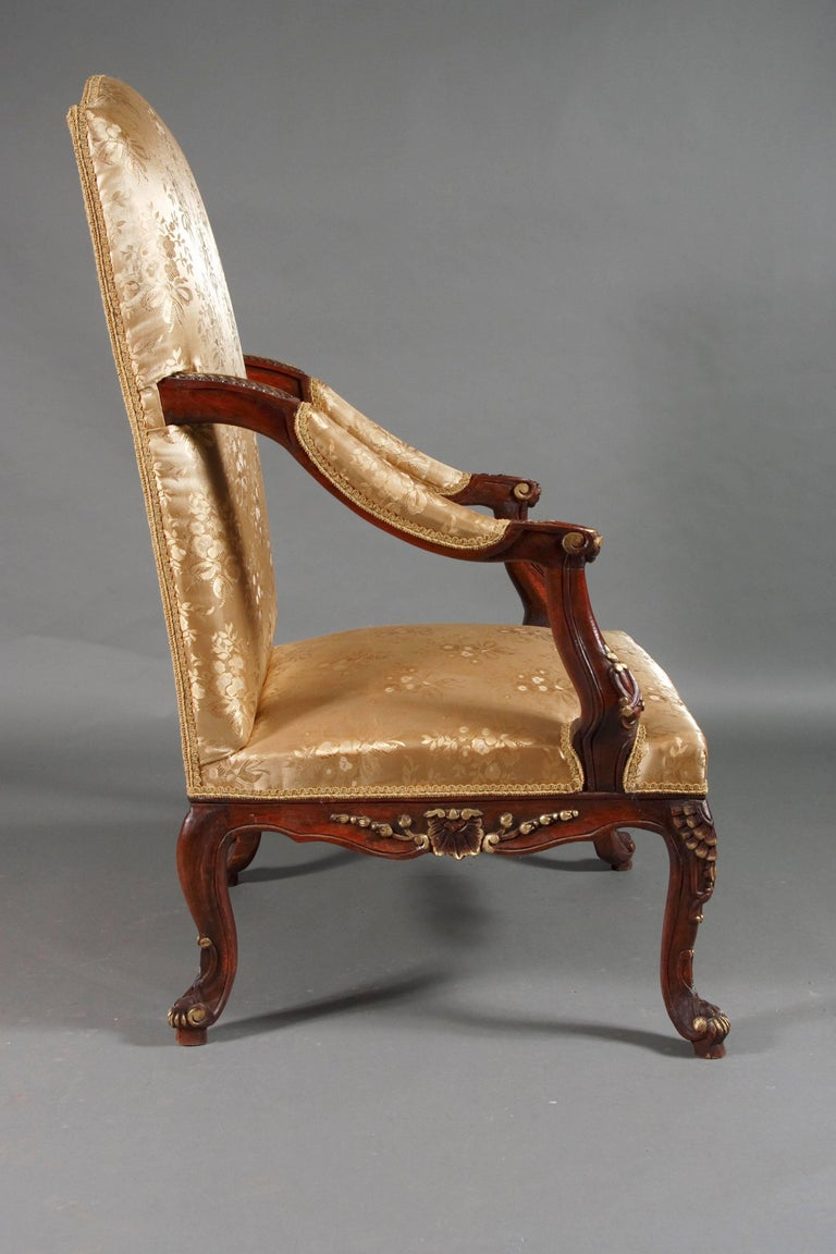 Louis XV Classic Baroque Armchair in the Louis Quinze Style For Sale