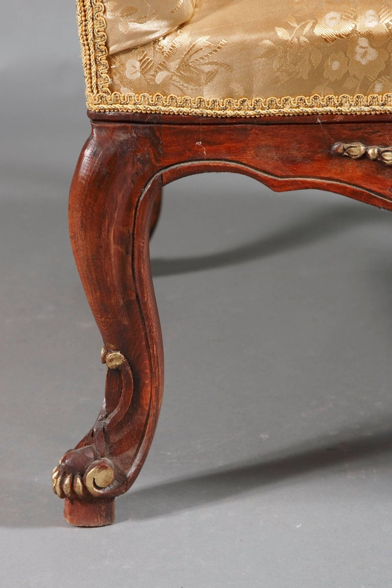 Beech Classic Baroque Armchair in the Louis Quinze Style For Sale