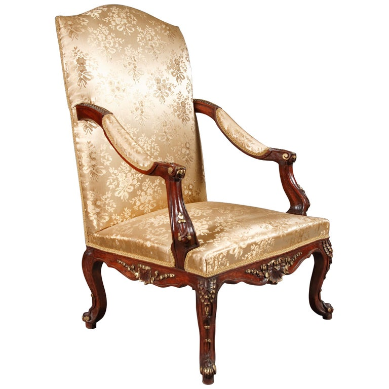 Classic Baroque Armchair in the Louis Quinze Style For Sale