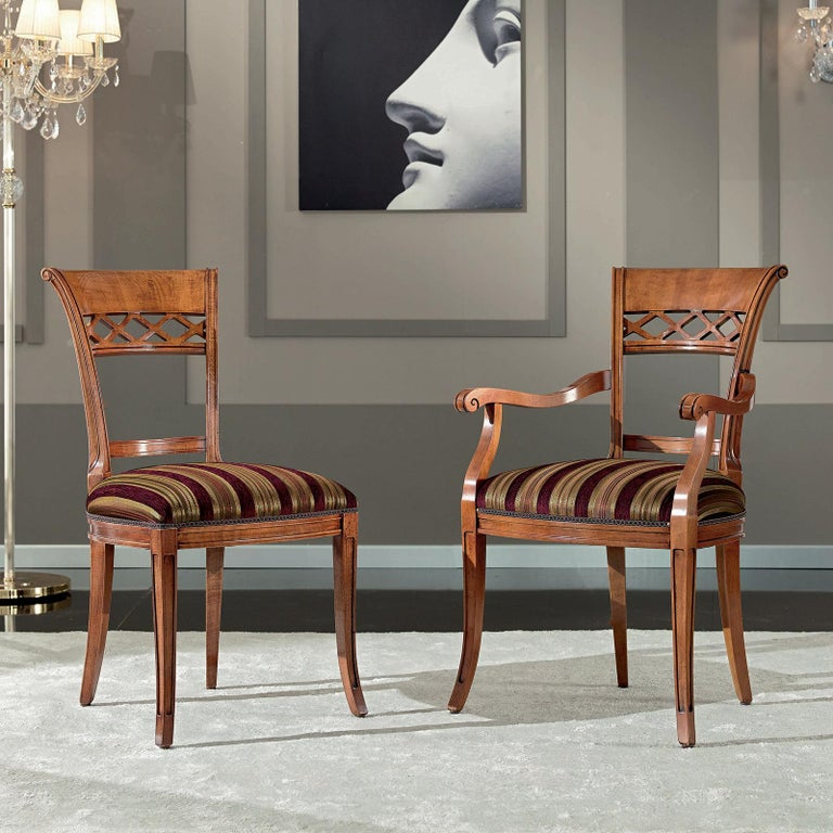Italian Classic Baroque Dining Chair For Sale