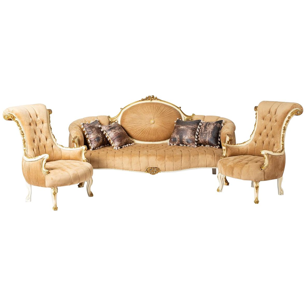 Classic Baroque Style Living Room '4 PIECES', 20th Century