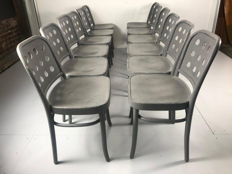 Polish Classic Bauhaus Side Chairs 6010 Designed by Josef Hoffmann/ Oswald Haerdtl For Sale