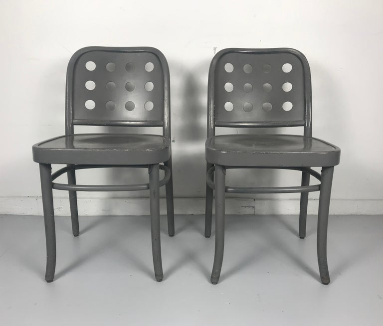 Lacquered Classic Bauhaus Side Chairs 6010 Designed by Josef Hoffmann/ Oswald Haerdtl For Sale
