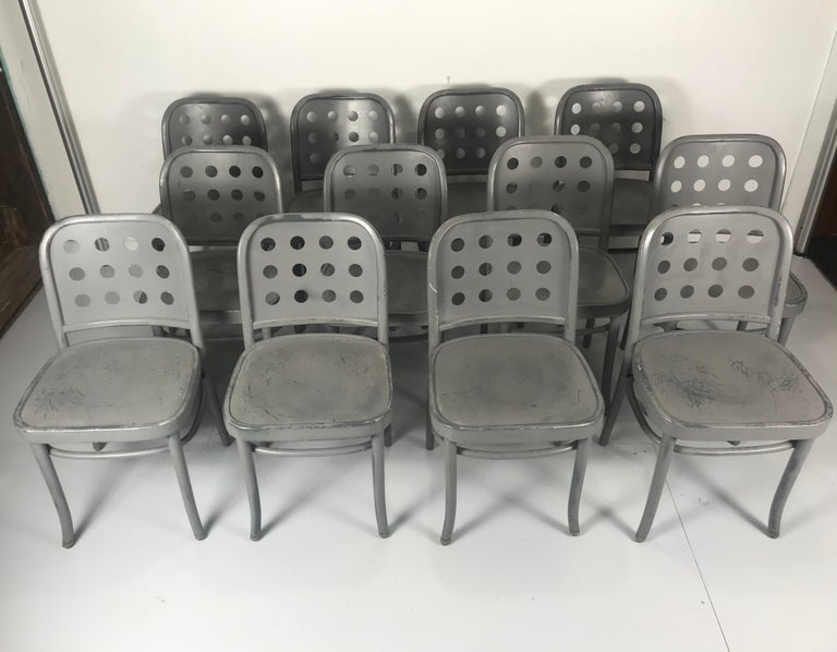 Classic Bauhaus Side Chairs 6010 Designed by Josef Hoffmann/ Oswald Haerdtl In Good Condition For Sale In Buffalo, NY