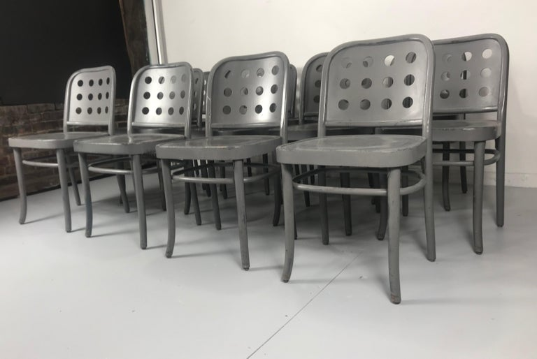 Late 20th Century Classic Bauhaus Side Chairs 6010 Designed by Josef Hoffmann/ Oswald Haerdtl For Sale