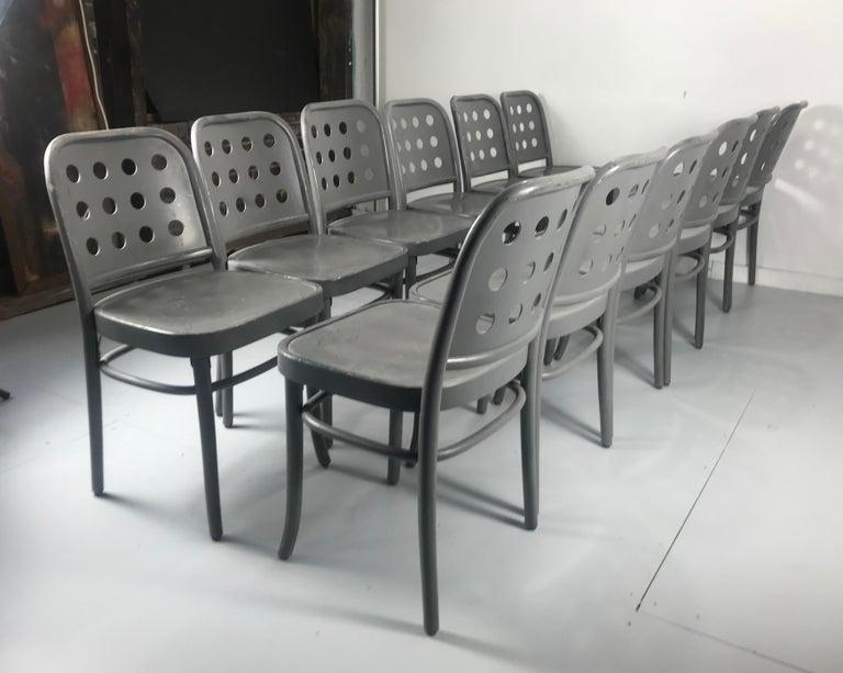 Bentwood Classic Bauhaus Side Chairs 6010 Designed by Josef Hoffmann/ Oswald Haerdtl For Sale