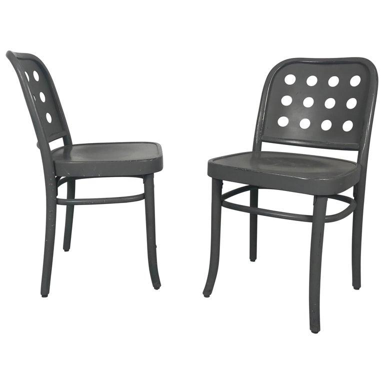 Classic Bauhaus Side Chairs 6010 Designed by Josef Hoffmann/ Oswald Haerdtl For Sale