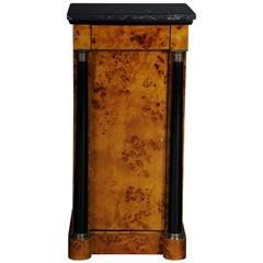 Classic Bedside Table, Side Table in Biedermeier Style, Maple Root L