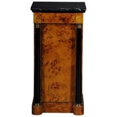 Classic Bedside Table, Side Table in Biedermeier Style, Maple Root R