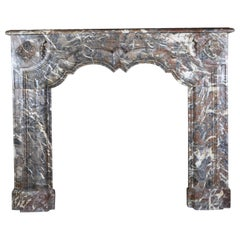 Classic Belgian Art Deco Fireplace Surround