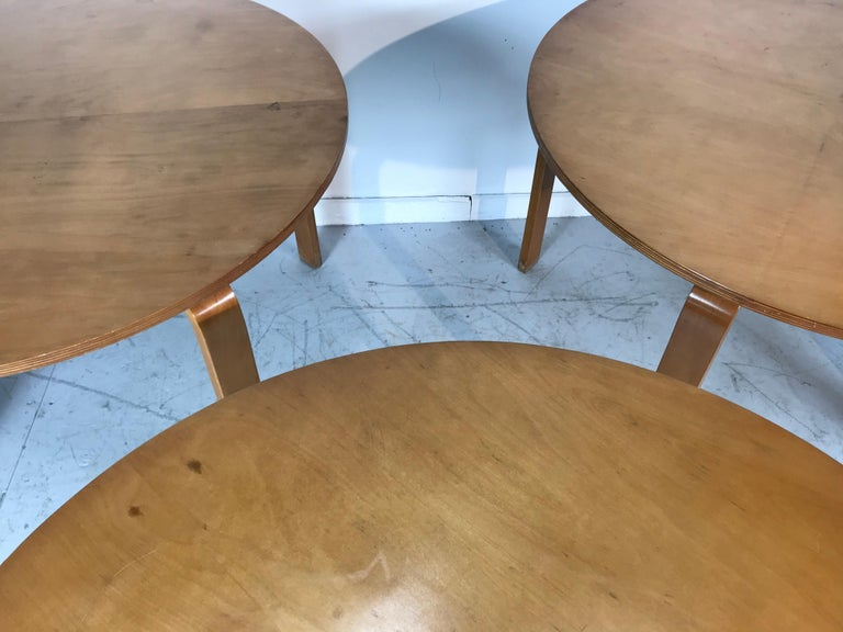 Classic Bent Plywood Bauhaus Style Dining Tables Attributed to Thonet For Sale 2