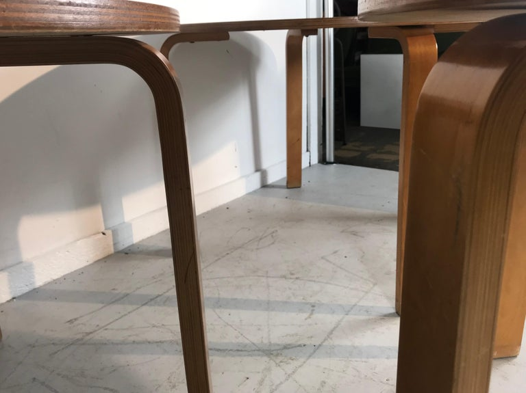 Classic Bent Plywood Bauhaus Style Dining Tables Attributed to Thonet For Sale 3