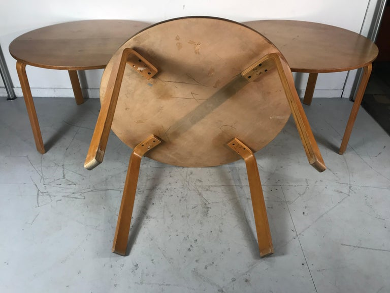 Classic Bent Plywood Bauhaus Style Dining Tables Attributed to Thonet For Sale 4