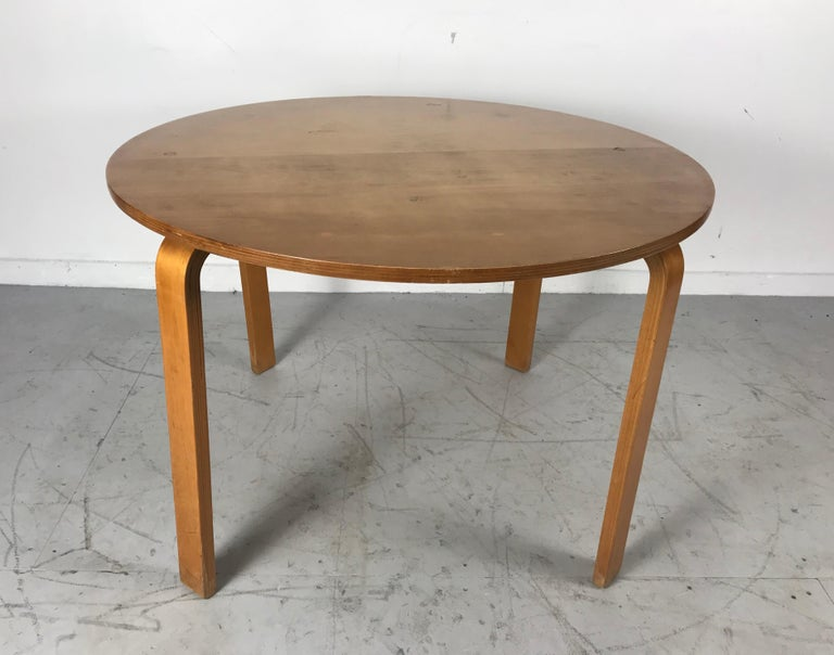 Classic Bent Plywood Bauhaus Style Dining Tables Attributed to Thonet For Sale 6