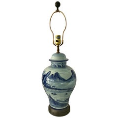 Classic Blue and White Ginger Jar Table Lamp by Chapman