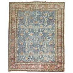 Classic Blue Antique Persian Tabriz Rug