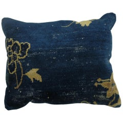 Classic Blue Chinese Rug Pillow
