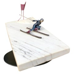 """""""Classic Bode Style"""" Ski Racing Sculpture by Ricky Sutphin"""