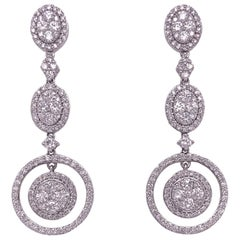 Classic Bridal Diamond Dangle Drop Earrings