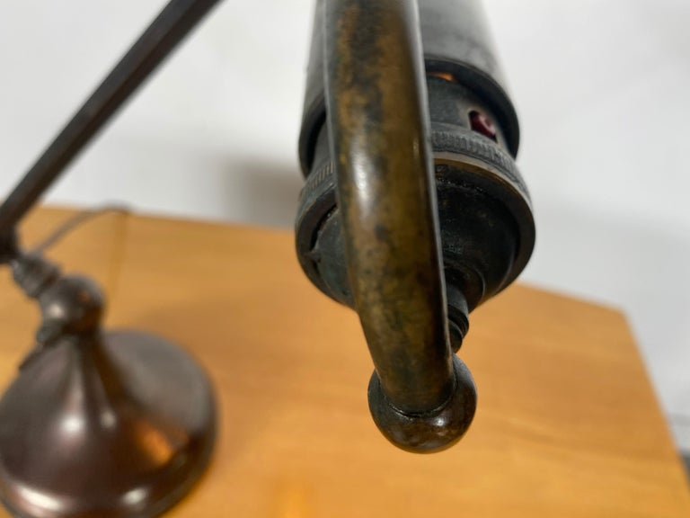 Classic Bronze Antique Piano Lamp, Fully Adjustable For Sale 5