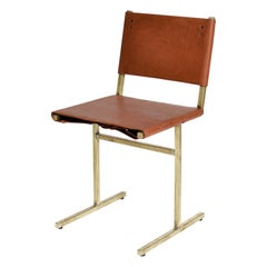 Classic Brown and Brass Memento Chair, Jesse Sanderson