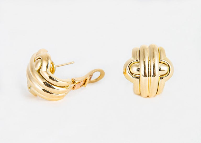 The iconic Italian jeweler Bvlgari is famous for exceptional design and quality that has made it into collections including Elizabeth Taylor and other collectors. This easy to wear design is perfect as a go to everyday earring offering exceptional