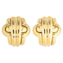 Classic Bvlgari Gold Earrings