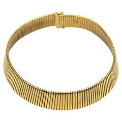 Classic Bvlgari Tubogas Gold Necklace