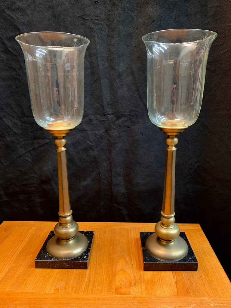 Brass Classic Candle Torchieres For Sale