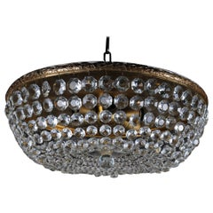 Classic Ceiling Lamp / Ceiling Brass / Crystal