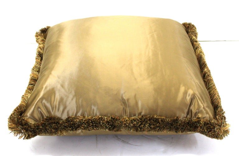 American Classical Classic Champagne Satin Drawing Room Pillows For Sale
