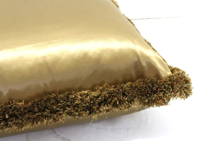 20th Century Classic Champagne Satin Drawing Room Pillows For Sale