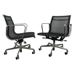 Classic Charles Eames Aluminum Group Mesh Task Chair, Herman Miller