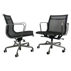 Classic Charles Eames Aluminum Group Mesh Task Chair, Herman Miller