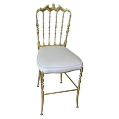 Classic Chiavari Italian Solid Brass Chair