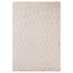 Classic Clean Lines Customizable Trace Weave Rug in Dove Small