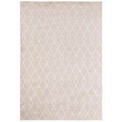 Classic Clean Lines Customizable Trace Weave Rug in Dove X-Large