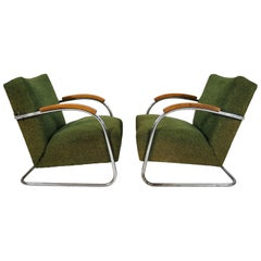 Classic Czech Chrome Chairs from Mücke Melder, 1940s, Set of 2