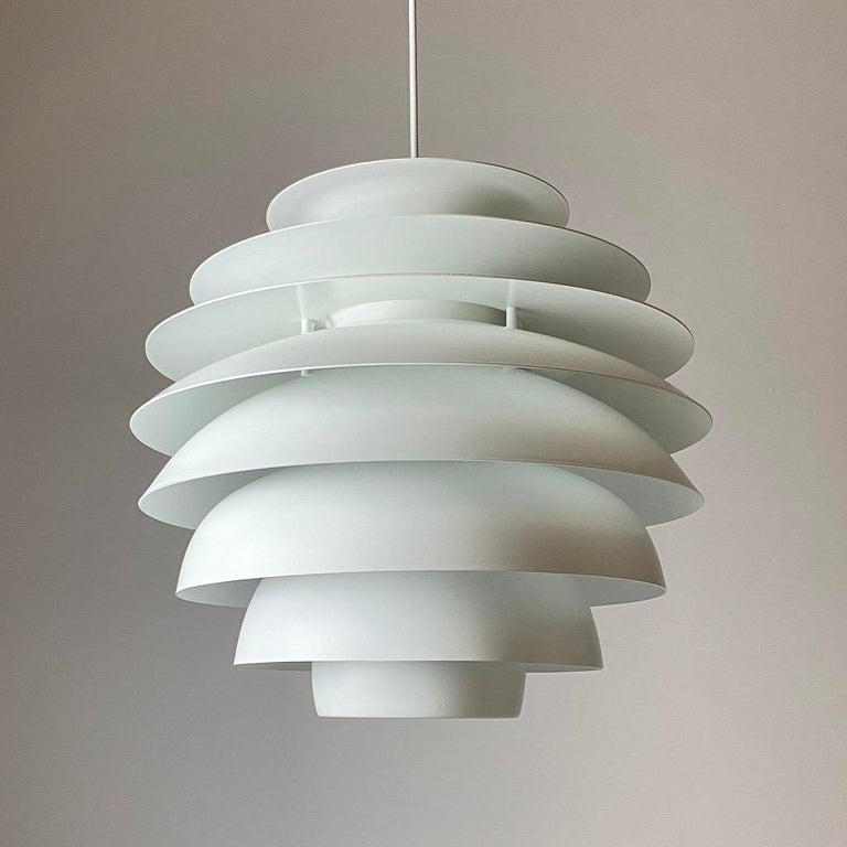 Scandinavian Modern Classic Danish Ceiling Light Barcelona by Bent Karlby for Lyfa, Denmark, 1970s For Sale
