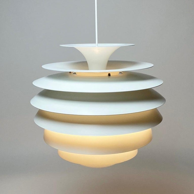 Classic Danish Ceiling Light Barcelona by Bent Karlby for Lyfa, Denmark, 1970s In Good Condition For Sale In Haderslev, DK