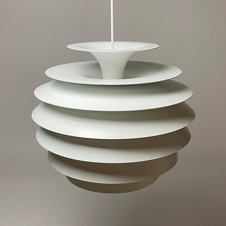 Late 20th Century Classic Danish Ceiling Light Barcelona by Bent Karlby for Lyfa, Denmark, 1970s For Sale