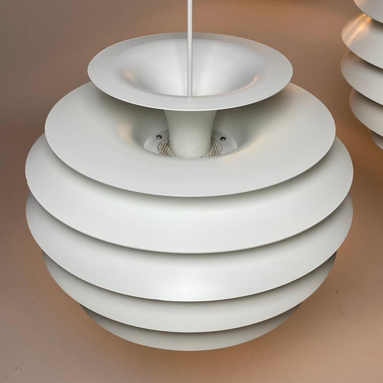 Lacquer Classic Danish Ceiling Light Barcelona by Bent Karlby for Lyfa, Denmark, 1970s For Sale