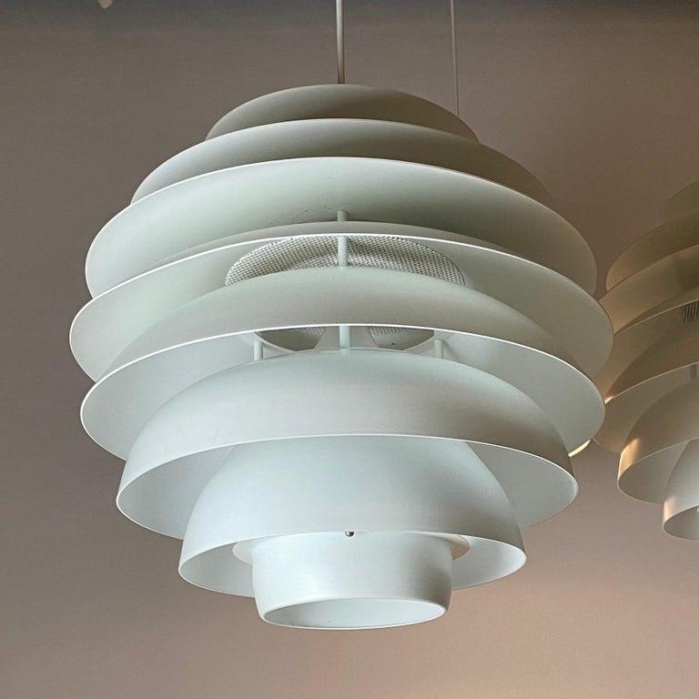 Classic Danish Ceiling Light Barcelona by Bent Karlby for Lyfa, Denmark, 1970s For Sale 1