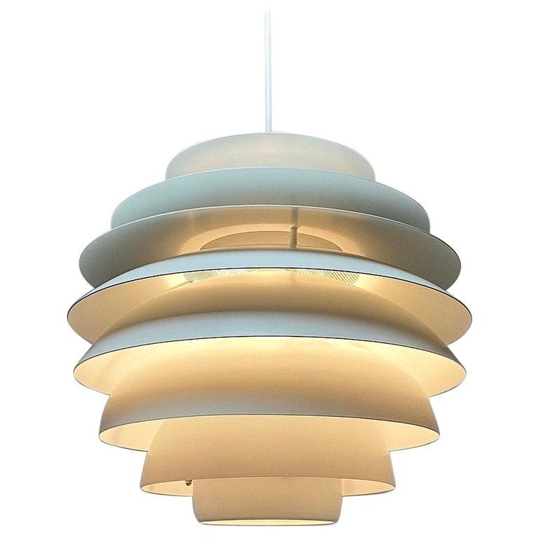 Classic Danish Ceiling Light Barcelona by Bent Karlby for Lyfa, Denmark, 1970s For Sale