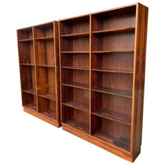 Classic Danish Modern Bookcase in Brazilian Figured Rosewood by Poul Hundevad