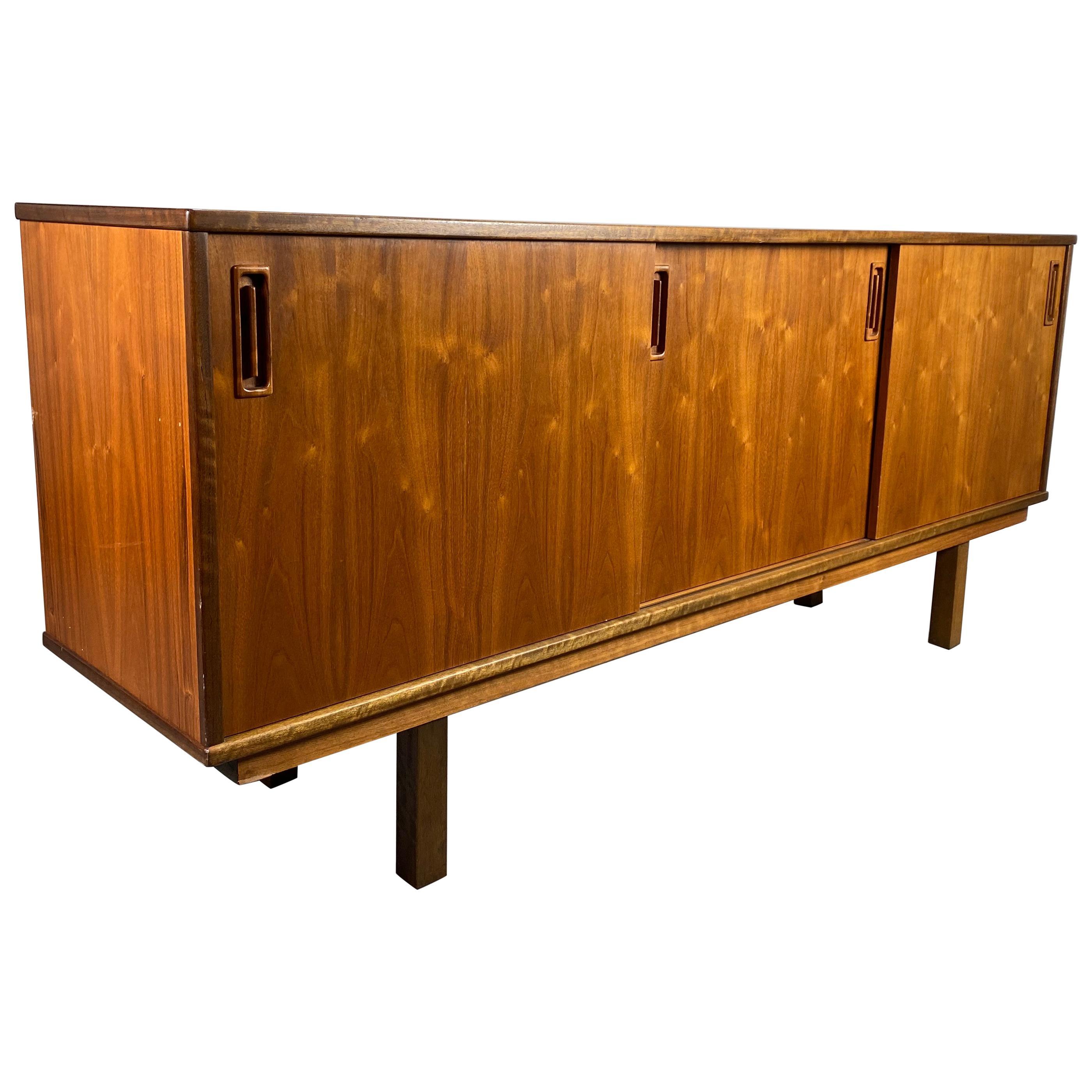 Classic Danish Modern Teak Credenza / Sideboard, Clausen & Son