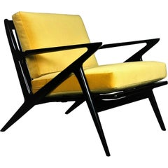 Classic Danish Modern Z Lounge Chair by Poul Jensen for Selig