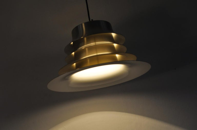 Classic Danish Multilayered Pendant Light in Brass For Sale 6