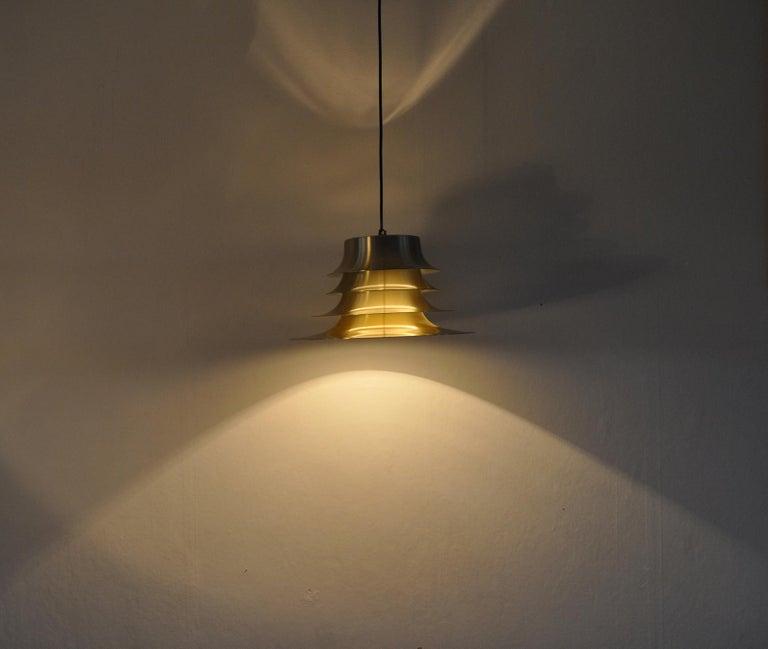Scandinavian Modern Classic Danish Multilayered Pendant Light in Brass For Sale