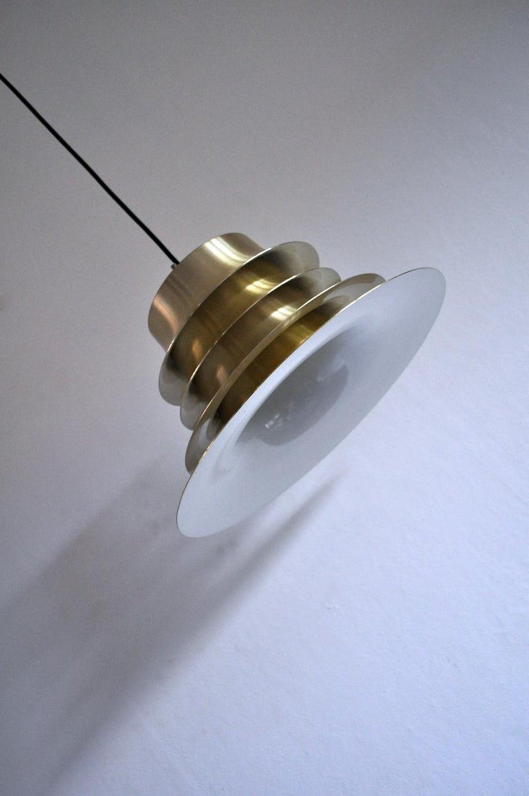 20th Century Classic Danish Multilayered Pendant Light in Brass For Sale